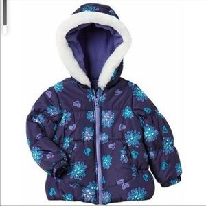 London Fog Floral Winter Coat 5/6- NWT
